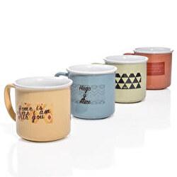 Set 4 tazas nature porcelánico