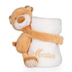 Manta bordada bebé con osito