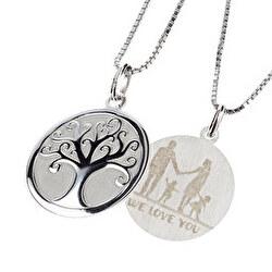 Colgante árbol de la vida plata grabado