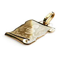 Colgante pergamino oro grabado