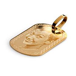 Colgante fantasía oro grabado