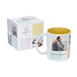 Taza blanca con caja