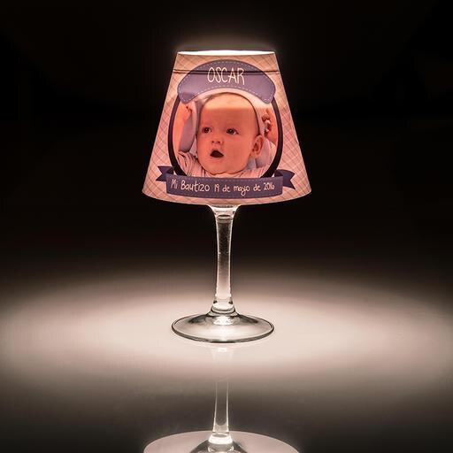Pantalla lámpara para copa de vino
