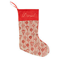 EMBROIDED CHRISTMAS SOCK LUXE