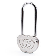 Heart shaped padlock engraved