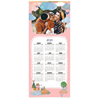 Panoramic wall calendar