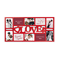 "Multi cadre 10 photo mural ""Love"""