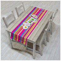Oilcloth table runner 40x140