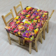 OILCLOTH TABLECLOTH 110X110