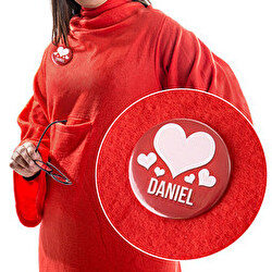 SNUGGIE SLEEVED BLANKET WITH PERSONALISED BADGE