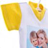 Mini camiseta con ventosa para colgar