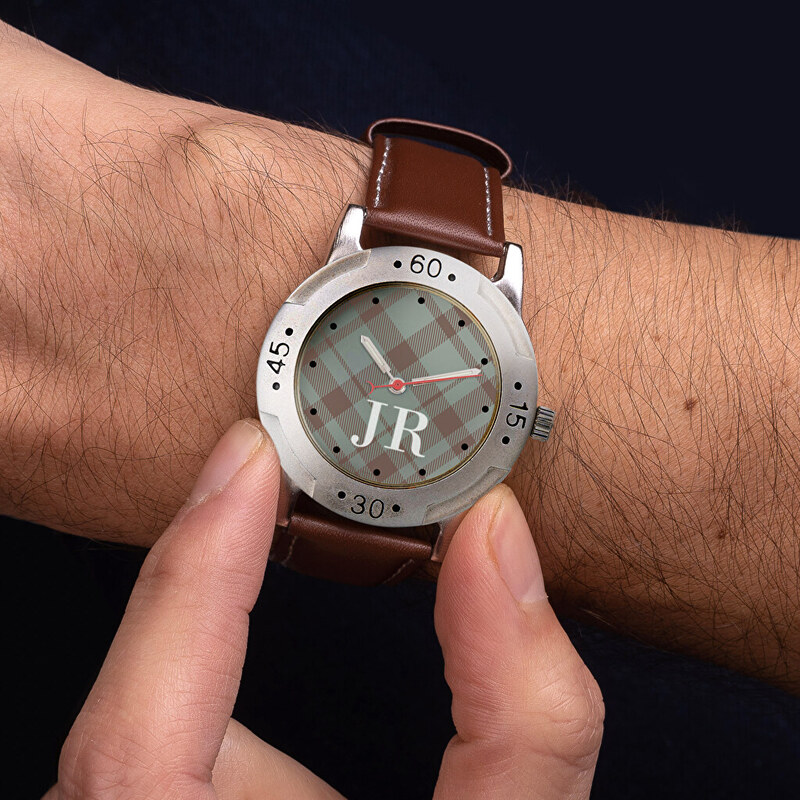 Personalised watch as a present for a man