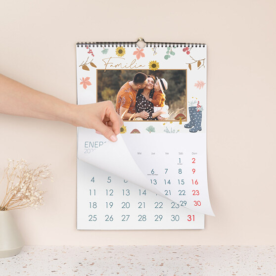 Calendario personalizado con una foto familiar