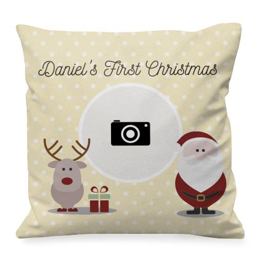 Cadeau de Noël Personnalisé Coussin Gingerbread Man Famille de Noël
