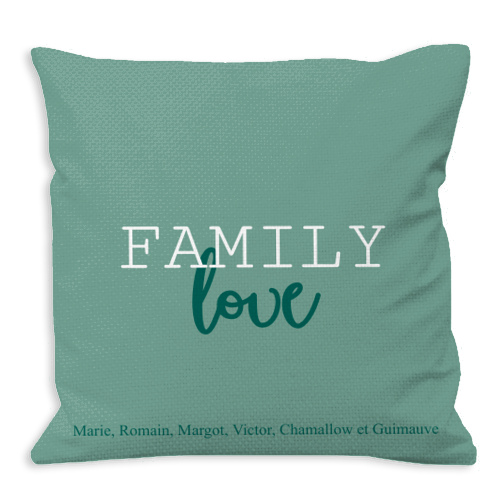Coussin famille personnalise