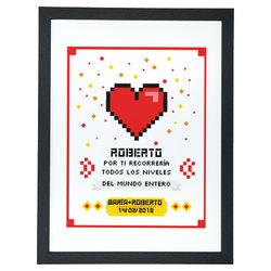 Diseño Amor pixelado