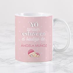 Diseño Bautizo bebe rosa