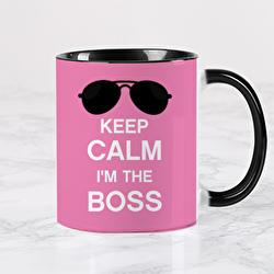 Diseño KEEP CALM I'M THE BOSS (pink)