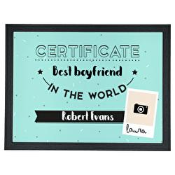 Diseño Certificate - Best world's boy/girlfriend