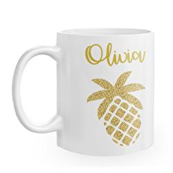 Diseño Glitter Pineapple