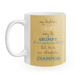 Diseño My grumpy brother is a champion