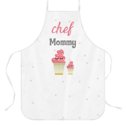 Wanapix Keukenschort van Panama stof voor moederdag met Foto of Naam bedrukken