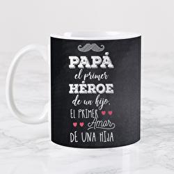 Diseño Papá primer héroe y primer amor