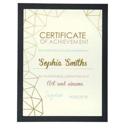 Diseño Certificate 5 (V)