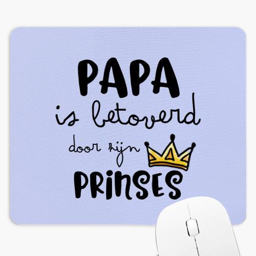 Wanapix Rechthoekige Muismat Papa is betoverd door zijn prinses met naam en foto bedrukken