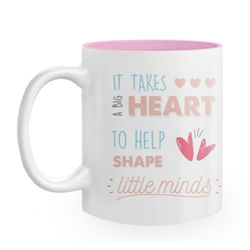 Diseño Teacher Big heart (pink)