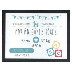 Diseño Nacimiento banderines AZUL
