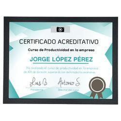 Diseño Certificado acreditativo turquesa