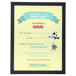 Diseño Diploma super amigo (V)