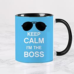 Diseño KEEP CALM I'M THE BOSS (blue)
