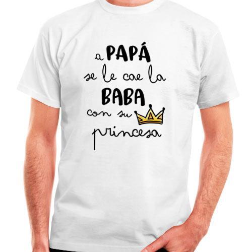 Camiseta algodón hombre Premium 1 cara Se le cae la baba 74be63adf30b1